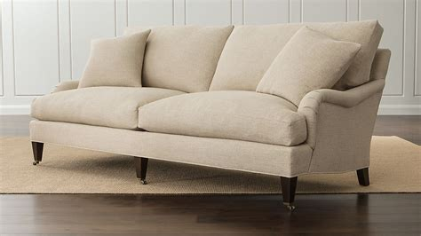 essex linen sofa with casters crate and barrel
