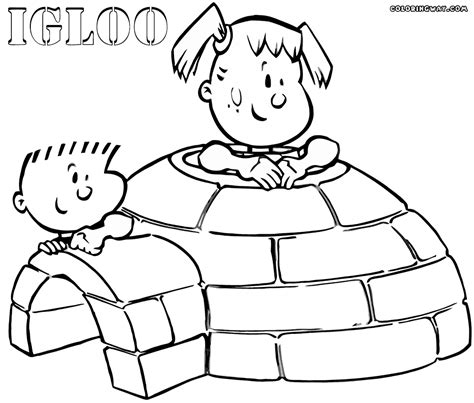coloring page igloo igloo coloring pages coloring pages to download and print