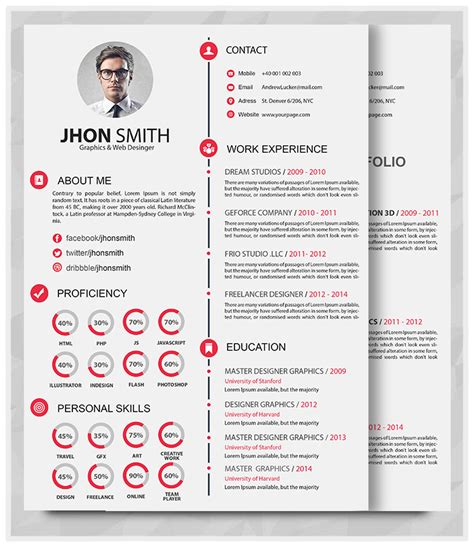 Resume And Portfolio by Resume Portfolio Resume Template