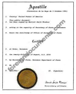 Birth Records Delaware Apostille In Delaware