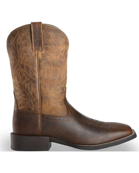 toe cowboy boots for ariat sport western cowboy boots square toe country
