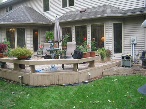 porch patio deck these fort wayne homeowners get new deck and patio