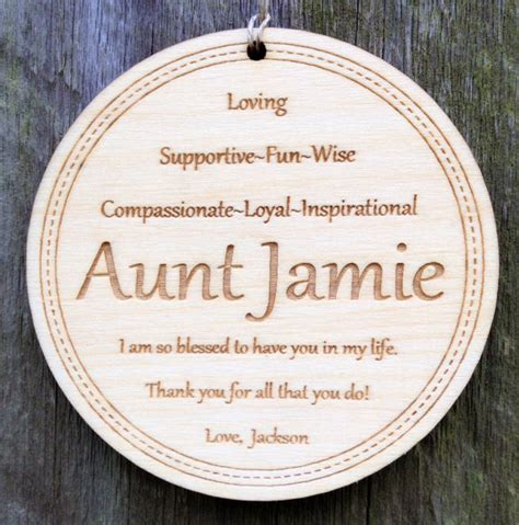 personalized aunt ornament christmas gift for aunt engraved