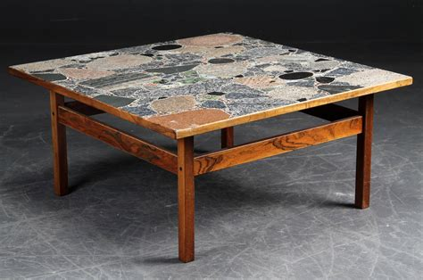terrazzo bench tops danish large scale rosewood coffee or low table with