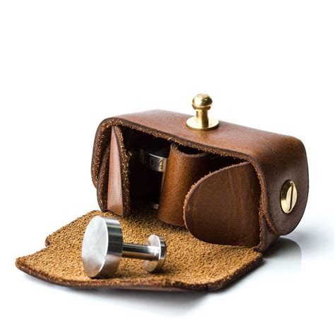 leather pounch leather pouch for cufflinks by gun