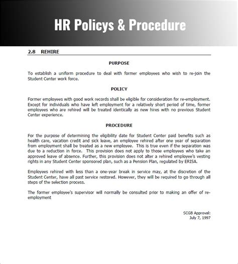 Policies And Procedures Template For Small Business Policy And Throughout Policy And Procedure Policies And Procedures Template For Small Business