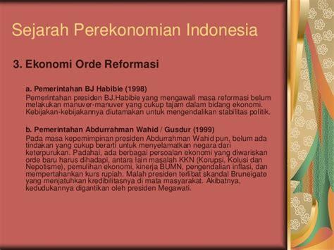 Sejarah Indonesia Dari Proklamasi Sai Orde Reformasi sistem ekonomi