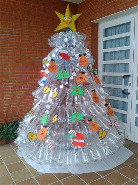 193 rbol de navidad con botellas de pl 225 stico adornos