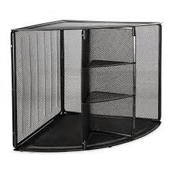 Desk Corner Organizer Desktop Shelf Office Black Storage Book Paper File Corner Desk Organizer Shelves Ebay