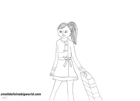 American Girl Grace Coloring Pages Small Dolls In A Big American Grace Coloring Pages Printable