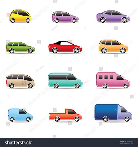 Car Types Icons by Different Types Of Cars Icons Vector Icon Set 74041624