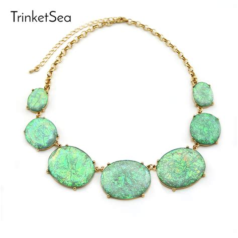 Choker Big Shining Choker trinketsea 2017 new arrival shining statement necklace bib chokers fashion jewelry