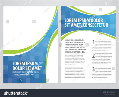 Vector Business Brochure Flyer Template Stock Vector 146503535 Shutterstock Flyer Design Template