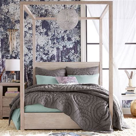 teen canopy bed costa canopy bed pbteen