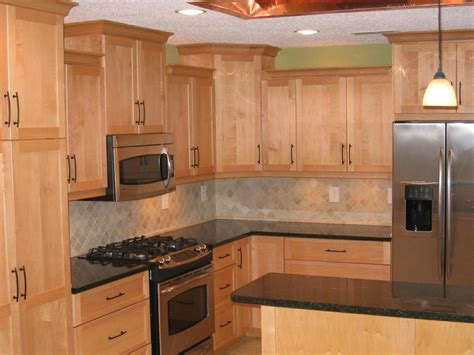pictures of kitchens with maple cabinets countertops for maple cabinets maple cabinets quartz