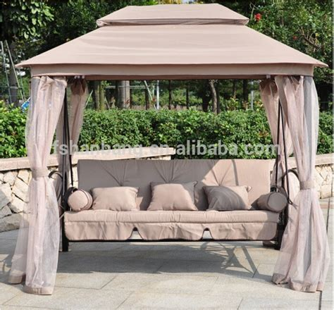 luxury outdoor patio gazebo reclining bed swing with