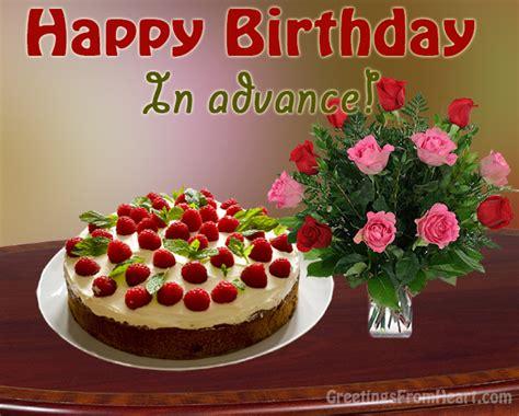 Advance Birthday Cards Birthday Advance Scraps Happy Birthday In Advance