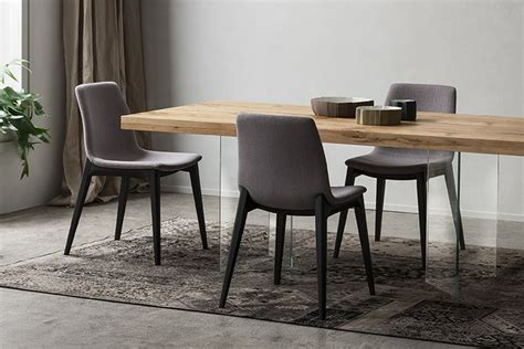 sedie per sala da pranzo sedia imbottita con gambe in legno napol arredamenti