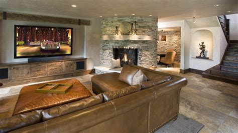 Rustic Leather Armchair Fireplace Niche Decorating Ideas Living Room Contemporary