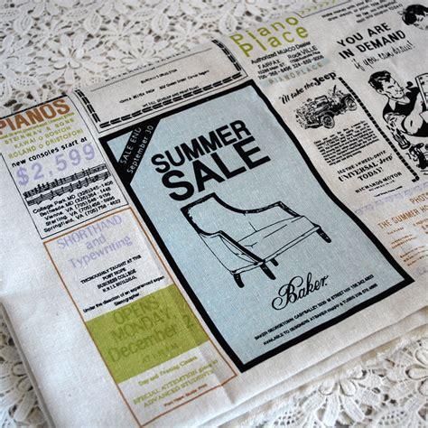 ebay news retro craft fabric vintage newspaper classfields news