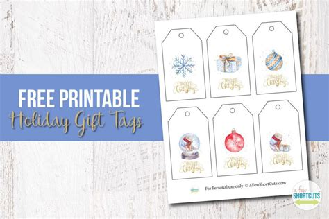 also check out this adorable free printable that would be free printable watercolor holiday gift tags a few shortcuts