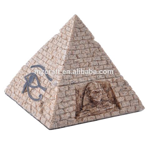 wholesale sand yellow big size resin pyramid for home - Pyramid Ornament