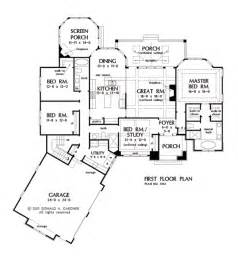 one story open floor plans one story house plans with split master and open concept