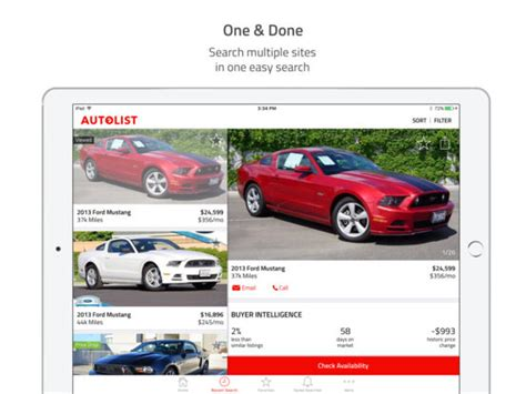 how apps can help in the car buying process bankrate com autolist used cars for sale screenshot