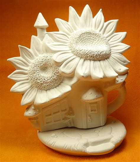 sunflower palace ceramic fairy garden houses cottages