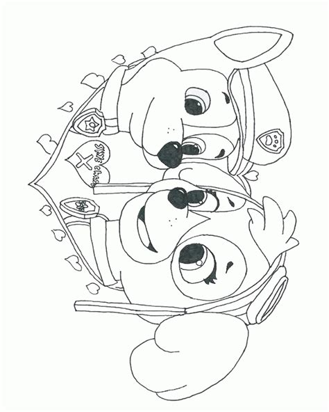 Paw Patrol Birthday Coloring Pages | skye paw patrol coloring page az coloring pages