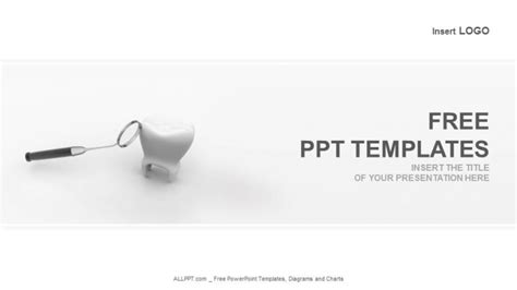 free dental powerpoint templates tooth and dental mirror powerpoint templates 1