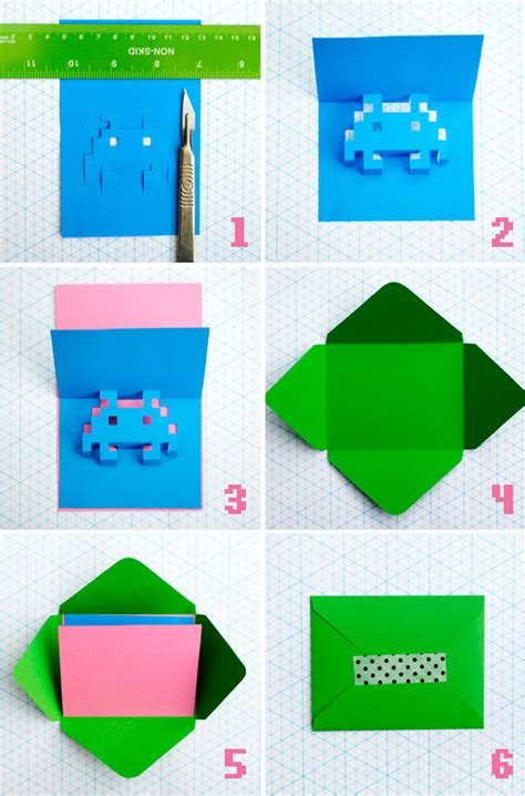 how to make a pop up card for birthday 8 bit popup cards minieco