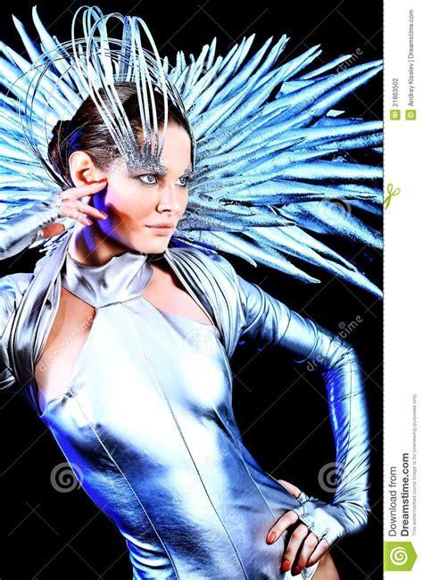 eccentric stock photo image  costume gloss metal