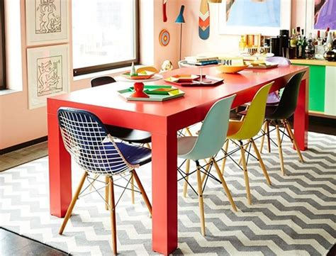Round Colorful Dining Room Table Ideas With Contemporary Colorful Dining Room Tables