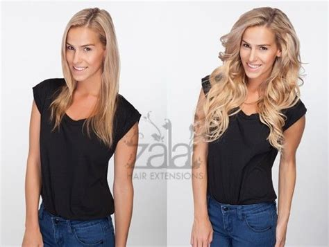 before after zala hair extensions before after zala honey beach blonde highlighted mix 18
