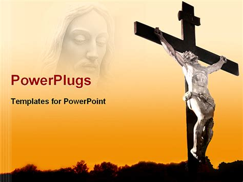 jesus powerpoint templates powerpoint template jesus being crucified with his