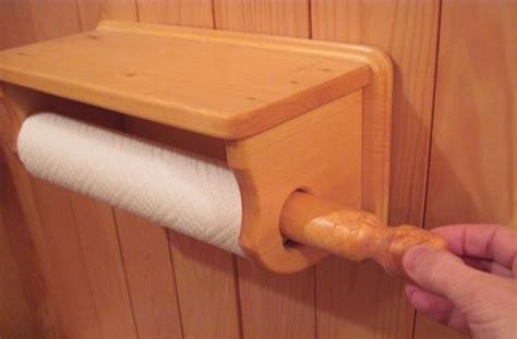 How To Make A Wooden Paper Towel Holder - clever details