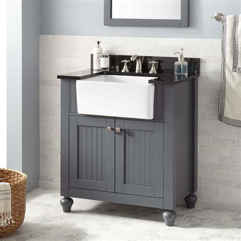 farmhouse sink bathroom 30 quot nellie farmhouse sink vanity dark gray bathroom