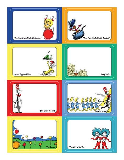 dr name tag template downloadable dr seuss name tags or food labels so many