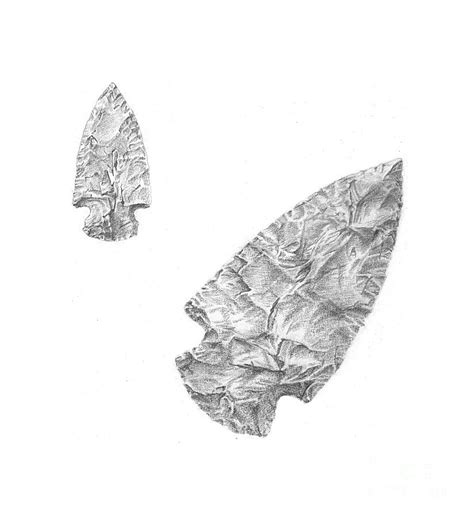 arrowhead drawing by shirley miller