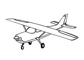 airplanes colouring pages