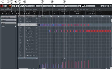 cubase drum pattern editor drum editor