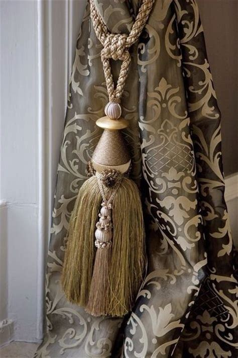 Drapery And Tassel Detail Curtain Tieback Tassel