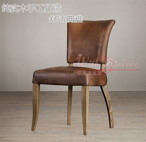 Country Vintage European Style American American Country Style Retro Wood To Do The Dining Chairs Leather Chairs Meeting Of