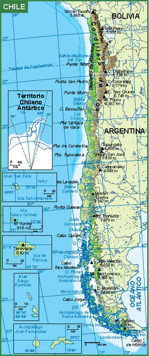 Wall Sticker Map Of The World chile mapa fisico our cartographers have made chile mapa