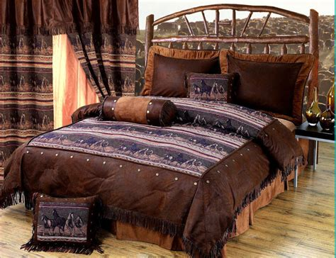western bedding sets queen mustang western 5 pc twin comforter bedding set