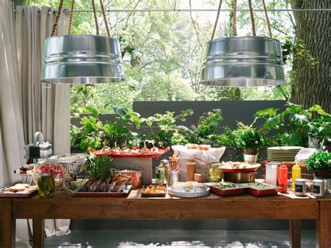 Burlap Chandelier Shades How To Host A Backyard Barbecue Wedding Shower