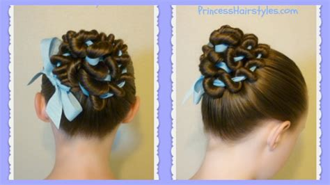 ribbon hairstyles ribbon coiled bun hairstyle tutorial