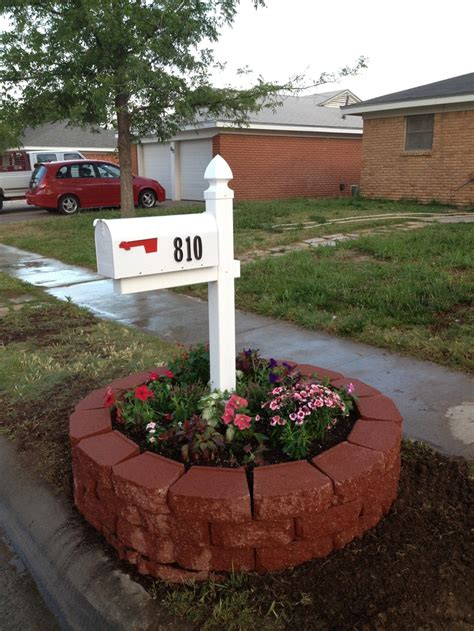 mailbox flower bed mailbox flower bed accomplished projects pinterest