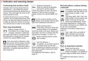 bmw x5 warning lights meaning